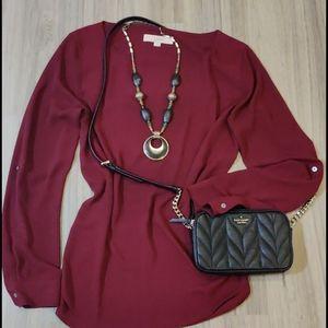 🌈2/30🌈Flowy blouse by LOFT size m